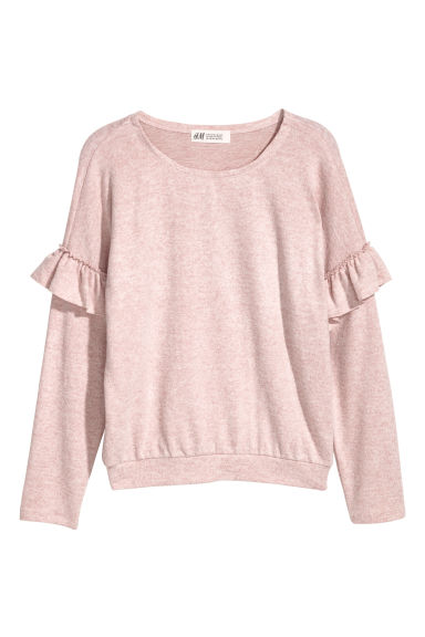 Pull en maille fine - Rose clair chiné -  | H&M BE