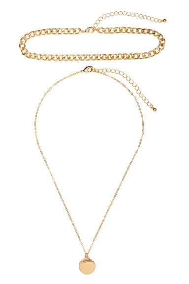 2-pack necklaces - Gold-coloured -  | H&M