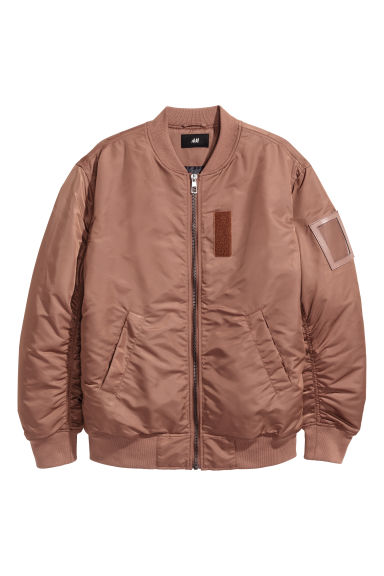 Nylon bomber jacket - Light brown -  | H&M