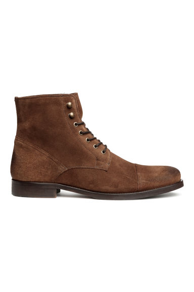 Suède boots - Donkerbruin - HEREN | H&M BE