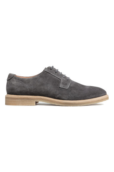 Leather Derby shoes - Dark grey -  | H&M GB