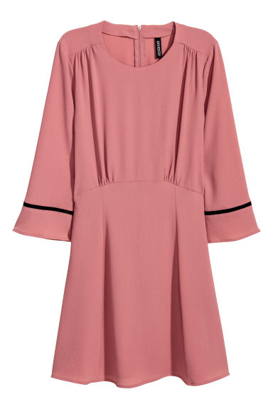 Crêpe dress - Vintage pink -  | H&M CN
