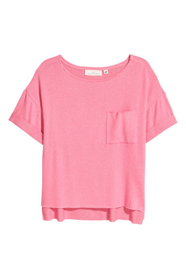 Fine-knit top - Pink -  | H&M