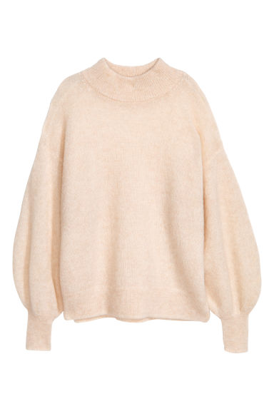 Mohair-blend jumper - Natural white - Ladies | H&M CN