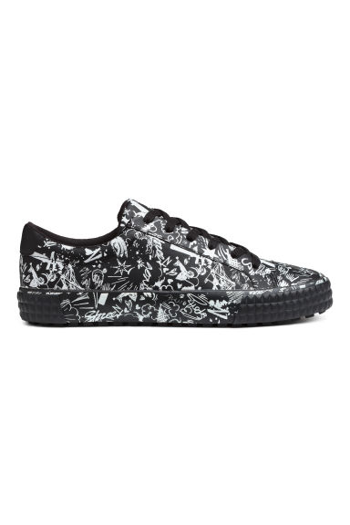 Trainers - Black/White patterned - Men | H&M