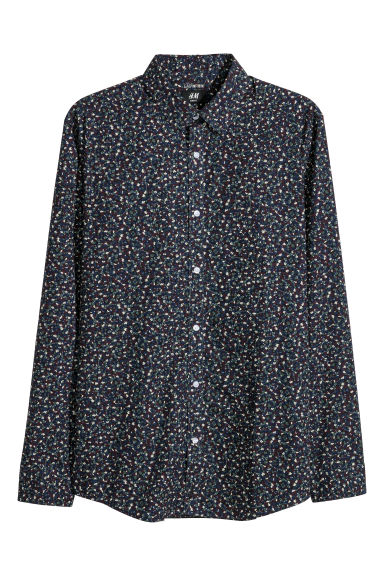 Easy-iron shirt Slim fit - Blue/Patterned -  | H&M IE