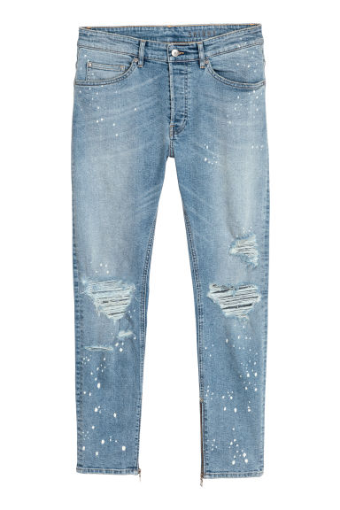 Skinny Jeans - Denim blue/White spotted -  | H&M