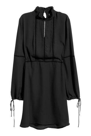 Chiffon dress - Black -  | H&M
