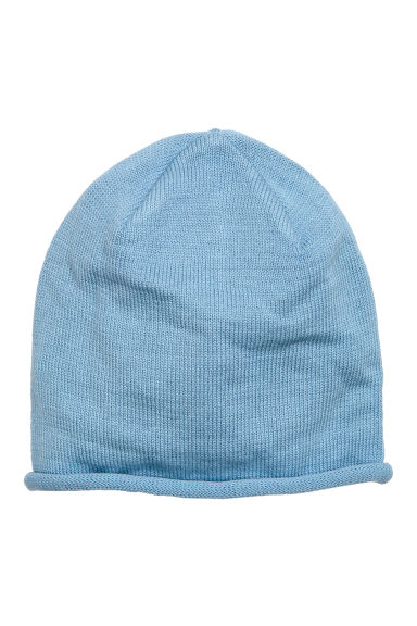 Fine-knit hat - Blue - Kids | H&M GB