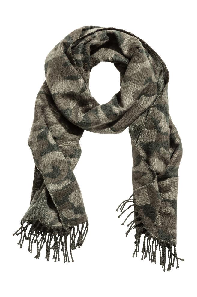 Foulard à motif - Vert kaki motif - HOMME   H M ... 26006802b99