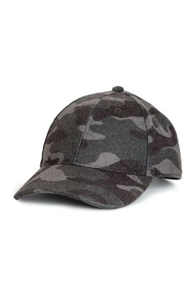 Patterned felt cap - Dark grey/Patterned -  | H&M