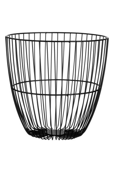 Metal wire basket - Black - Home All | H&M CN