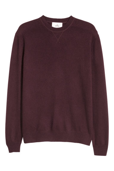 Cashmere jumper - Burgundy - Men | H&M CN