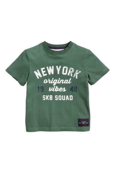 T-shirt met print - Groen/New York -  | H&M BE
