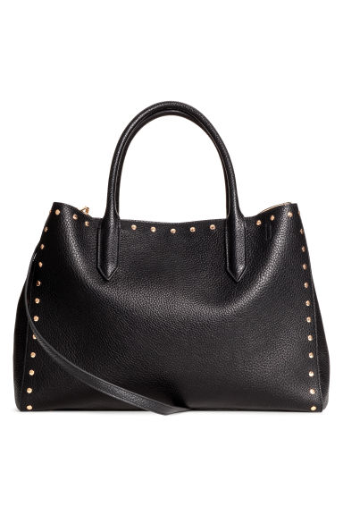 Shopper with studs - Black -  | H&M