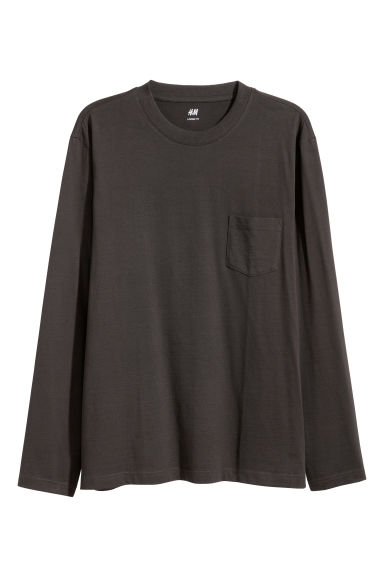 Long-sleeved top Loose fit - Black -  | H&M