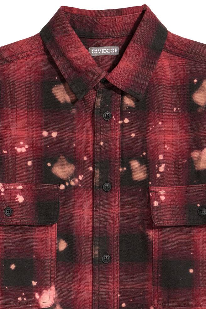 Overhemd Rood Zwart Geblokt.Oversized Overhemd Rood Zwart Geruit Heren H M Nl
