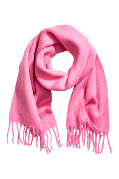 Woven scarf - Pink -  | H&M CN