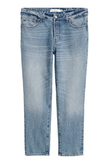 Girlfriend Jeans - 浅牛仔蓝 - Ladies | H&M CN