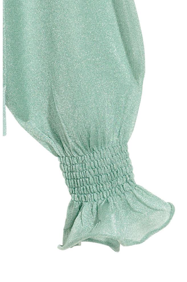 a8a4d186b3974 Semi-transparent top - Mint green - Ladies