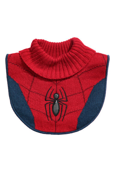 Knitted polo-neck collar - Red/Spider-Man -  | H&M CN