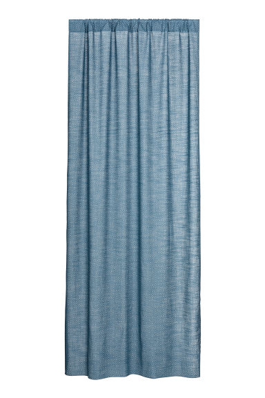 2-pack curtain lengths - Blue/White patterned - Home All | H&M CN