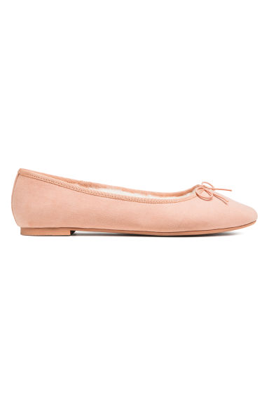 Lined ballet pumps - Powder pink - Ladies | H&M CN