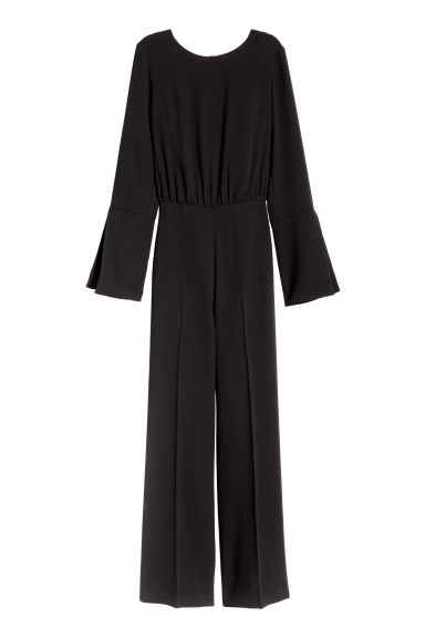Jumpsuit with ties - Black -  | H&M