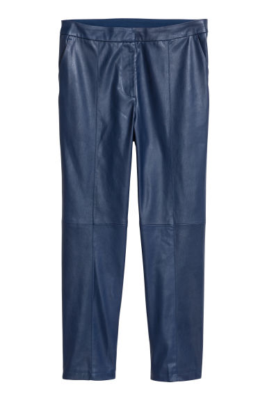 Imitation leather trousers - Blue - Ladies | H&M