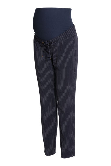 MAMA Striped trousers - Dark blue/Pinstripe -  | H&M CN