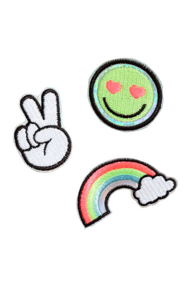 3-pack pin brooches - Pink/Rainbow -  | H&M CN
