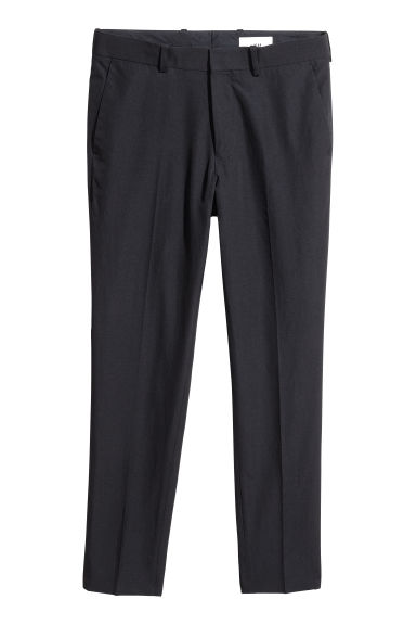Cotton twill chinos - Black - Men | H&M