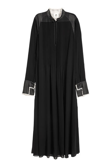 Chiffon kaftan dress - Black - Ladies | H&M GB
