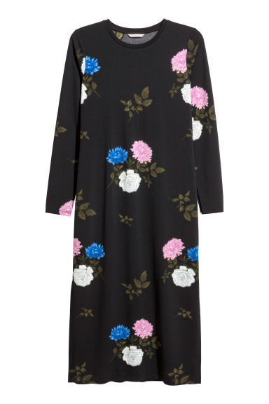 H&M+ Patterned dress - Black/Floral -  | H&M IE