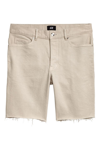 Denim short - Beige -  | H&M NL