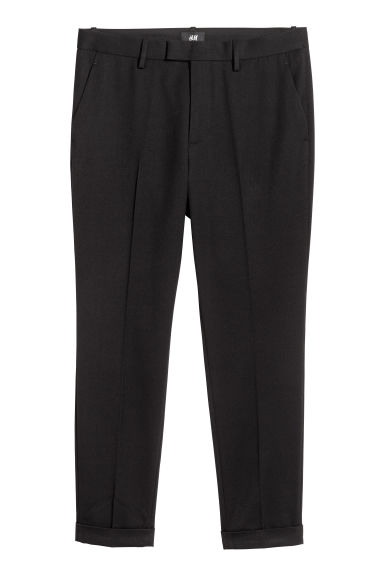 Suit trousers Slim fit - Black - Men | H&M GB