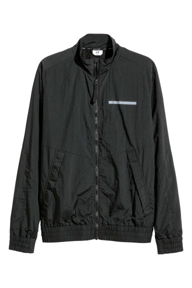 Nylon sports jacket - Black -  | H&M