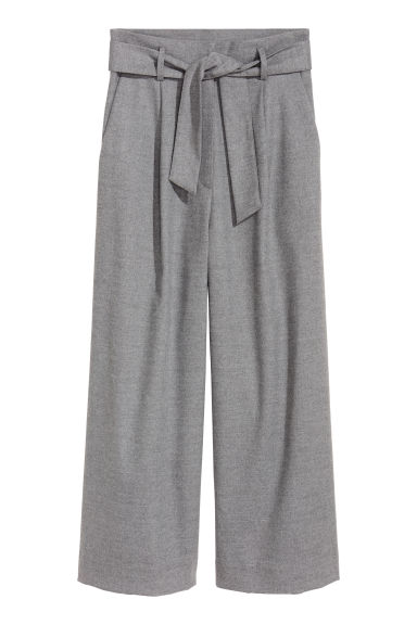Wide trousers - Grey -  | H&M