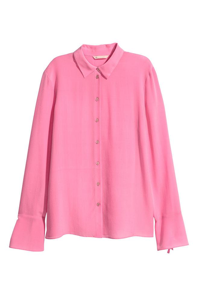 59e158dce Camisa em seda - Rosa - SENHORA