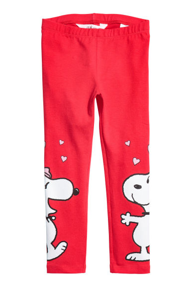 Jersey leggings - Red/Snoopy -  | H&M IE