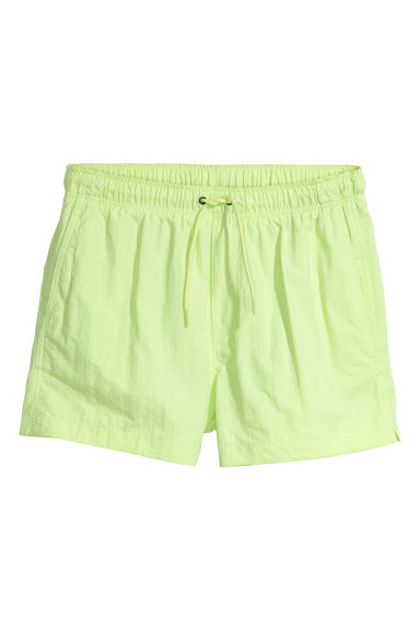 Short swim shorts - Neon green -  | H&M CN