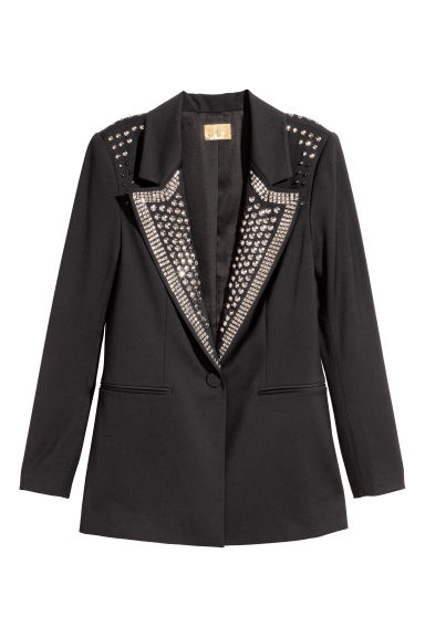 Jacket with studs - Black -  | H&M