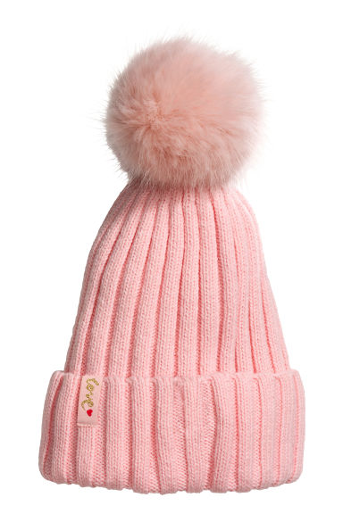Ribbed hat - Pink -  | H&M