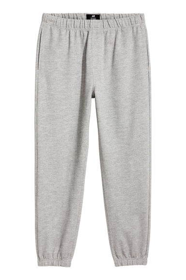 Piqué joggers - Grey - Men | H&M IE