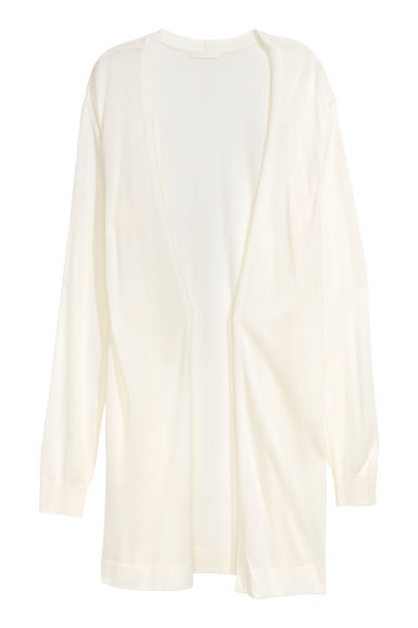 Fine-knit cardigan - Natural white -  | H&M