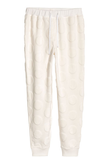 Fleece joggers - White -  | H&M GB