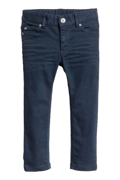 Stretch trousers - Dark blue -  | H&M CN