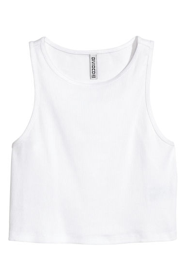 Short vest top - White - Ladies | H&M