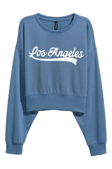 Sweatshirt - Blue/Los Angeles - Ladies | H&M