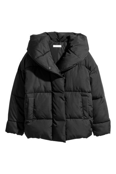 Padded jacket with a hood - Black - Ladies | H&M